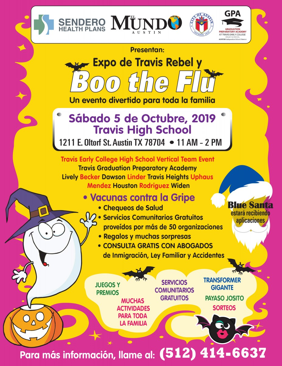 TREx & Boo the Flu Flyer in Spanish