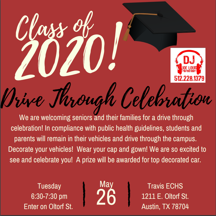 Senior Drive Through Celebration Flier